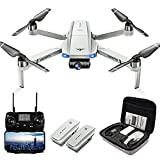 Drones with Camera for Adults 4K, LARVENDER KF102 GPS 4K Drone with 2-Axis Gimbal Camera, 2 Batteries 50Mins Flight Time WiFi FPV Quadcopter Auto Return Home,Brushless Motor Drones for Beginners/Kids