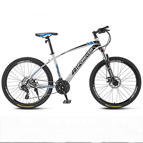CPY-EX 66-Zoll-Mountainbikes 21,24,27,30 Geschwindigkeit Mountainbike 26 Zoll Räder Fahrrad, Weiß, Rot, Blau, Schwarz,D,24