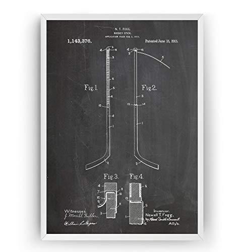 Eishockeyschläger 1915 Patent Poster - Eishockey Eislaufen Jahrgang Drucke Drucken Bild Kunst Geschenke Zum Männer Frau Entwurf Dekor Vintage Art Gifts Decor - Rahmen Nicht Enthalten