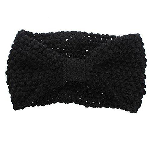 Crochet Fleur Bow tricoté Bandeau Cheveux Band