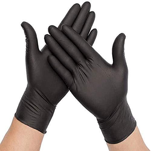 Black Industrial Grade Powder Free Nitrile Gloves, 100/BX - 5mil - Size Medium