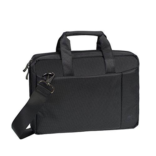 """RIVACASE Tasche für Notebooks bis 10.1"""" – Kompakte Laptoptasche mit Zusatzfächern & gepolsterten Seitenwänden / 8251 grau"""