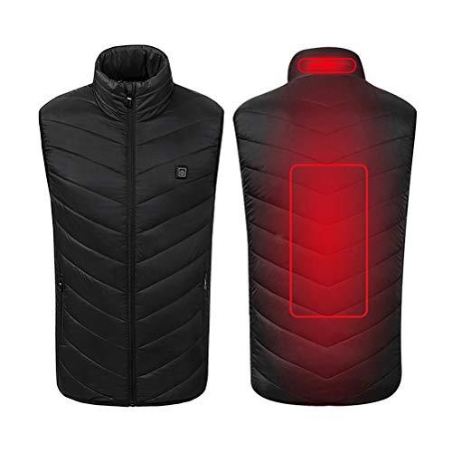 Oyria winddicht, elektrisch verwarmd vest, wasbaar, instelbaar via USB, verwarmde verwarmingsjas, kleding, warm wintervest voor rugpijn, outdoor jacht, kamperen, wandelen