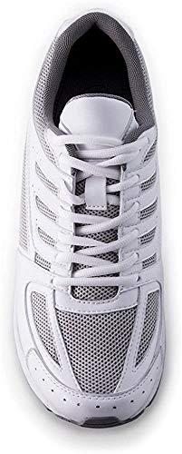 Masaltos Schuhe Herrenschuhe Die auf Unsichtbare Weise Ihre Körpergrösse bis zu 7 cm Erhöhen. Herrenschuhe mit Verstecktem Absatz. Modell Siena Weiß 41