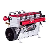 HMANE 14cc Inline Four-Cylinder Engine Model Kits for Adults, TOYAN FS-L400 Four-Stroke Water-Cooled Nitro Engine Model for 1/8 1/10 1/12 1/14 RC Model Car Ship Airplane - KIT Version