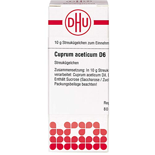 DHU Cuprum acetatum D6 Streukügelchen, 10 g Globuli
