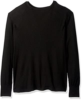 Fruit of the Loom Men's Premium Natural Touch Thermal Top, Rich Black, Small