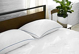 Sleep Innovations Premium Shredded Gel Memory Foam Pillows 2 Pack, Queen Size, Made in the USA