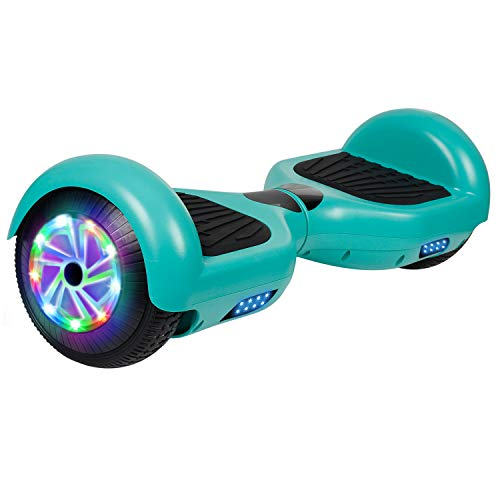 UNI-SUN Hoverboard for Kids, Self Balancing Scooter 6.5' Two-Wheel Self Balancing Hoverboard with Bluetooth and Lights (A01 Green(No Bluetooth))