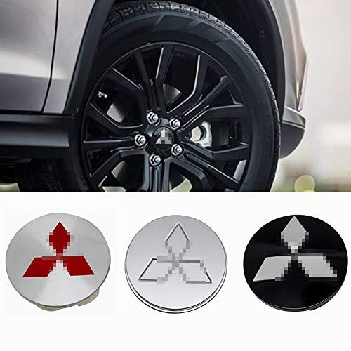 4pcs Car Wheel Center Radkappen Aufkleber Rad Staubdichte Abdeckungen Für Mitsubishi ASX Ralliart Outlander Lancer...