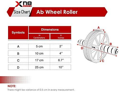 XN8 Rullo Ruota AB - Esercizio Addominale con Ruota Addominale - per Allenamento della Forza Addominale e Core