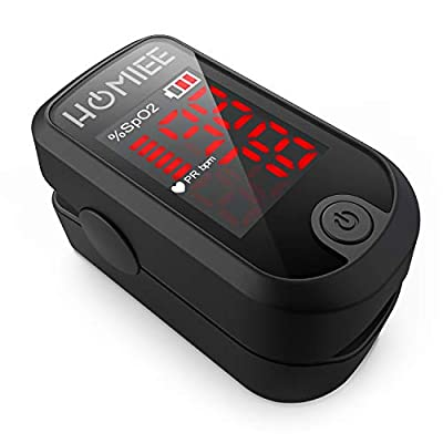 HOMIEE Superior Measuring Accuracy Exquisite, Heart Rate Monitor, Heart Rate Monitor with Durable Carrying case, Bonus Lanyard, Automatic Shutdown Fast Reading, Black