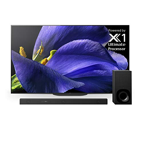 Sony XBR-77A9G 77 Inch TV: MASTER Series BRAVIA OLED 4K Ultra HD Smart TV with HDR and Alexa Compatibility - Z9F 3.1ch Dolby Atmos Sound Bar and HT-Z9F Wireless Subwoofer