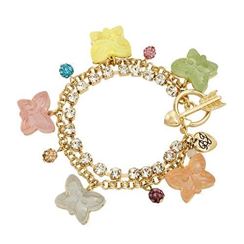 Betsey Johnson Gummy Butterfly Charm Bracelet