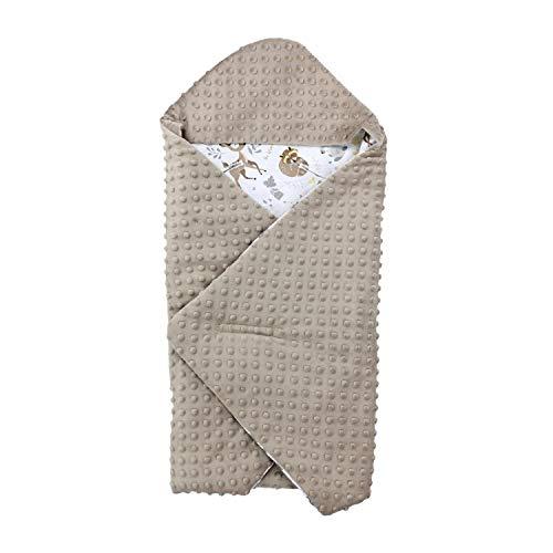 TupTam Baby Frühling-Sommer Einschlagdecke für Babyschale, Farbe: Wilde Tiere, Größe: ca. 75 x 75 cm