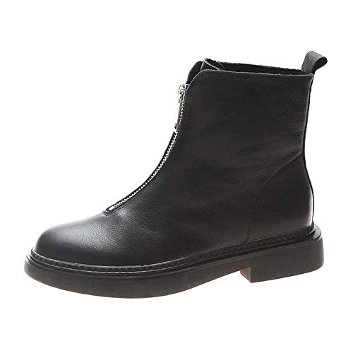 SHOES-YRQ dames Fashion Boot 2019 Winter Top Booties Rits Martin laarzen Chelsea laarzen 35 blacksingle