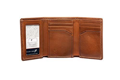 HOJ Co. DEER Trifold Wallet | Nappa Full Grain Leather | Men's Leather Trifold Wallet | Deer Wallet | Hunter Gift