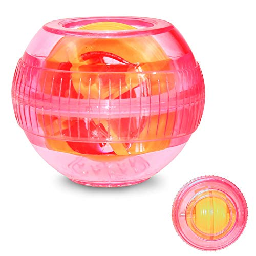 SSeir Powerball Gyroscopes, Wrist Strengthener Arm Training Equipment Power Exerciser Rehabilitation Rotation Ball with LED Lights Centrifugal Ball Decompression Toy,Pink