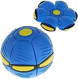 FeiWen Bola mágica de ovnis Bola de platillo Volador deformada Bola de ventilación Frisbee Bola deformada Juguetes para Padres e Hijos Juegos de Playa Deportes al Aire libr Regalo (Azul)