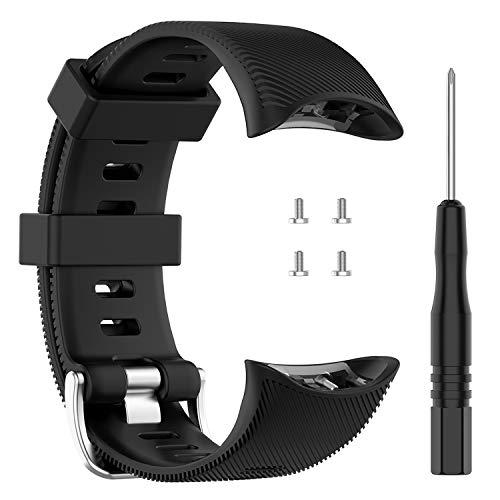 Tencloud - Correa de repuesto para smartphone Forerunner 45/45s/Swim 2, correa deportiva de silicona para reloj inteligente Forerunner 45/45s, color Negro
