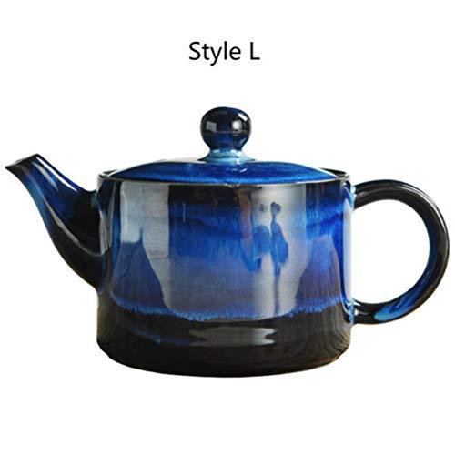 FUYIO Juego de té de Porcelana de KML Fu de cerámica de 200 ml, Juego de té de Porcelana, Tetera de Celadón, Pintada a Mano, Estilo L