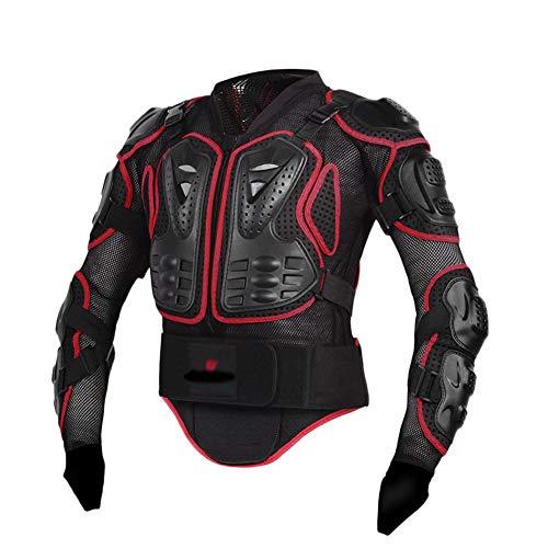 YOUCAI Motorrad Schutz Body Protector Safty Jacket Protektoren Hemd Brustpanze Motorrad Schutz Protektoren Motorradjacke Hemd Brustschutz Schutzjacke,Rot,4XL