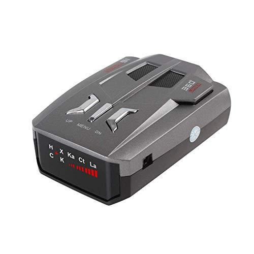 Radarwarner, Einzelne Anzeige Fahrzeug Mobile Tachometer Geschwindigkeit Auto Anti Radar Voice Alarm Warnung Gruppen Automatische LED Anzeige,Schwarz