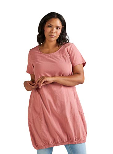 Zizzi Damen Große Größen Kurzarm Kleid aus Baumwolle Gr 42-56