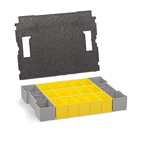 L-BOXX 102 Insetboxen-Set Bosch Sortimo | B3 Einsätze mit Deckeleinlage | Erstklassige Sortierboxen für Kleinteile | Ideale Sortierbox Schrauben klein