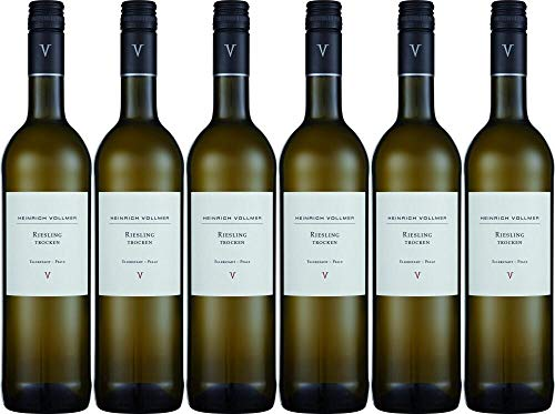 6x Riesling trocken 2018 - Weingut Heinrich Vollmer, Pfalz - Weißwein