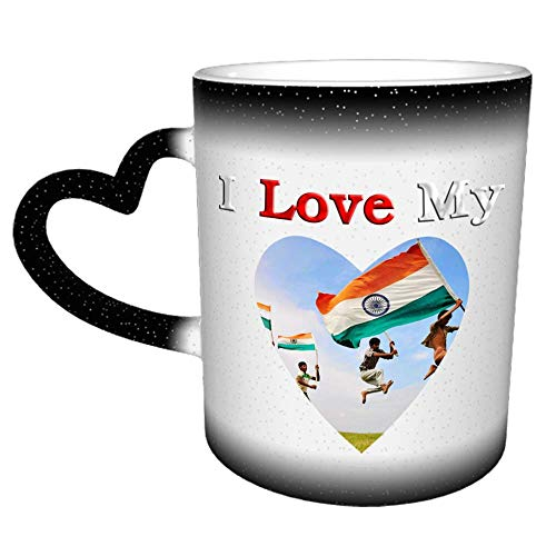 Amo mi taza de café Ap de la bandera nacional india, tazas de café con asa de corazón, tazas de té, regalo para hombres, mujeres, parejas