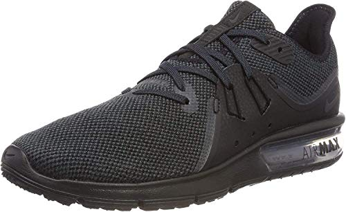 Nike Mens Air Max Sequent 3 Running Shoes (7.5 D(M) US) Black/Anthracite