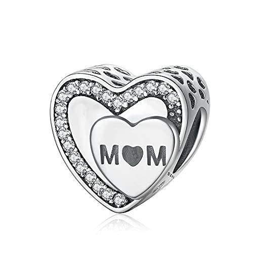 Pandora 925 colgante de plata esterlina DIY amor real para la madre Fit mm pulsera brazalete para Wo n cumpleaños regalo de joyería de moda