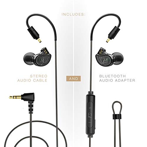MEE audio, M6 Pro 2. Generatie universele in-ear monitor + Bluetooth-adapter Combo One Size smoke