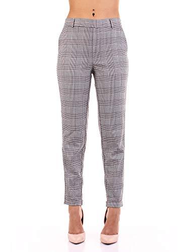 Vero Moda Vmmaya Mr Loose Check Pant Noos Pantalones, Multicolor (Black Checks: White), 38/ L30 (Talla del Fabricante: Medium) para Mujer