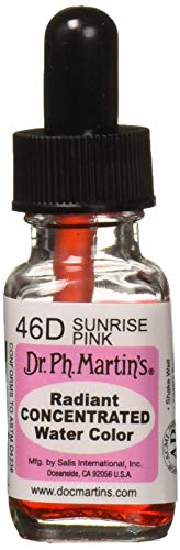 Dr. Ph. Martin's Radiant Concentrated Water Color, 0.5 oz, Sunrise Pink (46D)