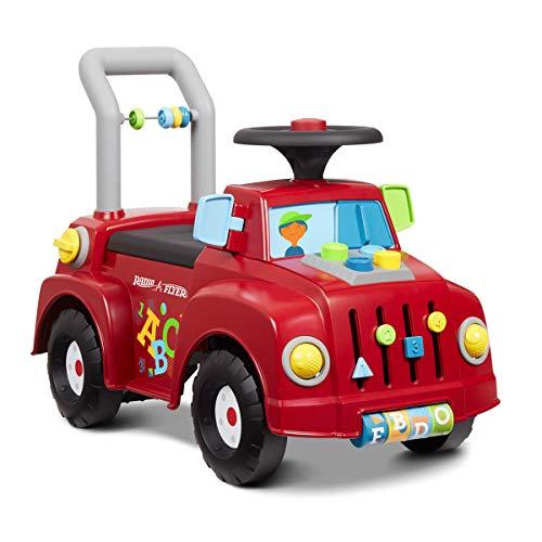 Radio Flyer ラジオフライヤー ティンカートラック Tinker Truck 604 足けり乗用玩具 知育玩具 歩行練習 ハンドル付 プッシュボタン シート下収納