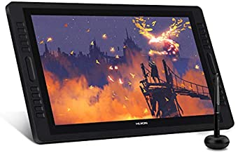 HUION Kamvas Pro 22 Drawing Monitor Pen Display 21.5 Inch IPS Graphic Tablets with Screen, Full-Laminated Technology, 8192 Battery-Free Pen