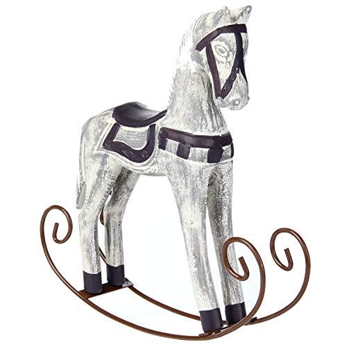 Pceewtyt Modern Europe Style Trojan Horse Statue Wedding Decor Wood Horse Retro Home Decoration Accessories Rocking Horse Ornament Gifts