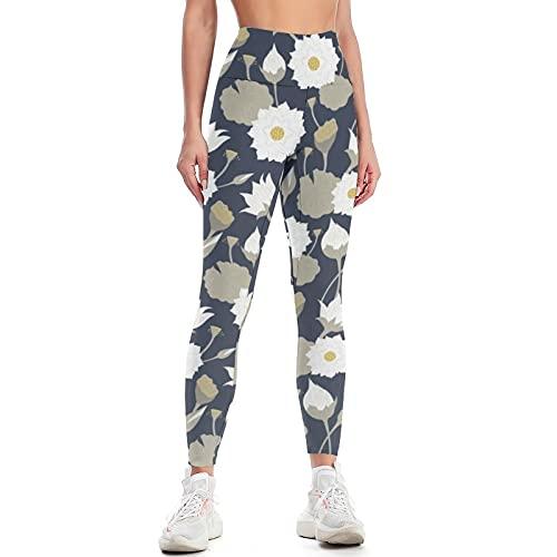 QTJY Pantalones de Yoga de Cintura Alta para Mujer Pantalones de Yoga de Estiramiento Delgado y Levantamiento de Cadera Pantalones de Ejercicio anticelulítico para Correr C L