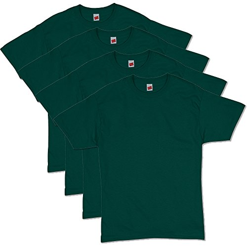 Hanes Men's ComfortSoft Short Sleeve T-Shirt (4 Pack ),Deep Forest,X-Large