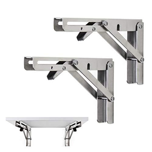 Ling AI DA MAI - Soporte plegable para estante (2 unidades, máx. 330 lb para montaje en pared, para estantes plegables con brazo de liberación corto), 250*115MM