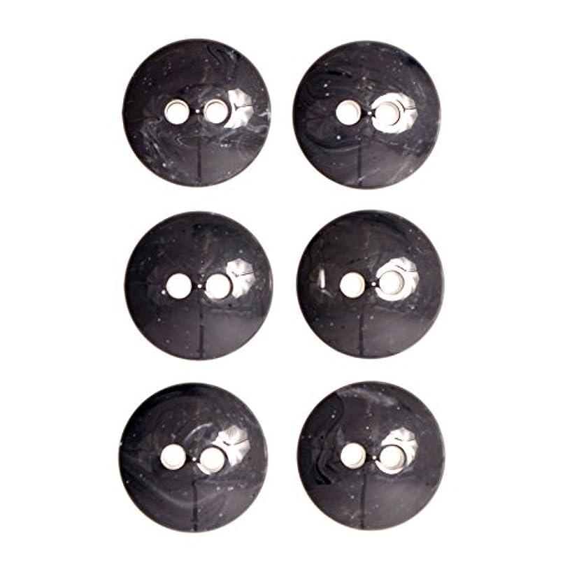 Imitation Horn Dome Shape 2 Hole- Coat Button 44 Line Gray
