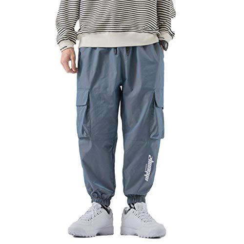 Pantalones Cargo Ligeros de piernas Anchas Sueltas para Hombre, Pantalones Harlan de Moda con Movimiento Holgado y Degradado Medium