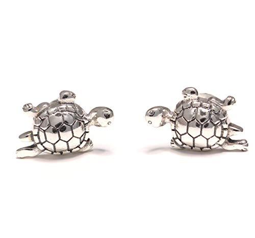 Orecchini a forma di tartaruga in argento sterling 925