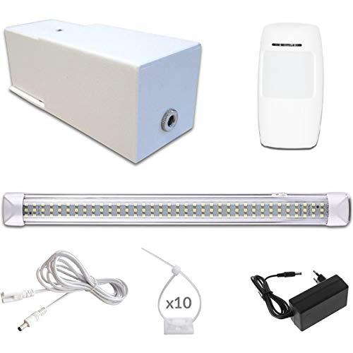 Faro LED Technooly - Sistema de iluminación para garaje, caja de bajo suelo sin electricidad, lámpara inalámbrica con batería, luz autónoma para iluminar locales, talleres, cobertizos, sótanos, chalet