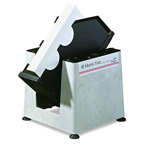 """Martin Yale 400 Single Bin Desktop Paper Jogger, Aligns and Separates Envelopes, Cards, Small Paper Stock, Jogs One Full Ream of 8-1/2"""" x 11"""""""