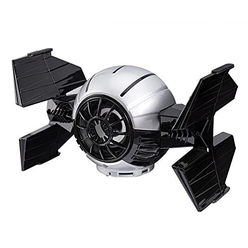 HGFDSA Haut-Parleur Bluetooth pour Vaisseau Spatial Star Wars, Personnalité Et Créativité Enceinte Surround 3D, Cadeaux d'anniversaire Décoration De Noël Saint Valentin,Noir