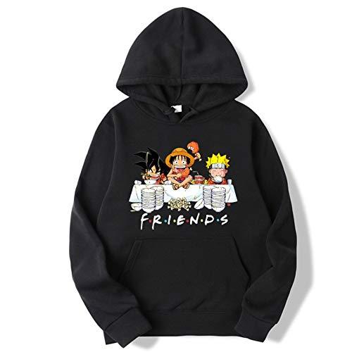 YZJYB Hoodie Hombre Funny 3D One Piece Sudaderas con Capucha Unisex Manga Larga Pullover Sweatshirt Streetwear con Cordón Disfraz con Bolsillos,3XL