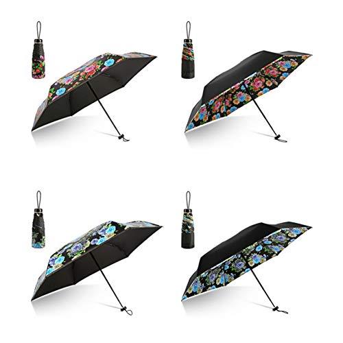 EFKKLM Parapluie Pliant Femmes Cadeau Hommes Mini Poche Parasol Filles Anti-UV Étanche Portable Parapluies De Voyage